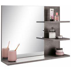 welltime spiegel »miami« met planchet zilver