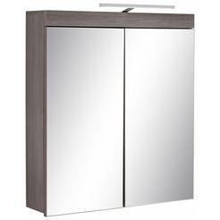 trendteam spiegelkast miami met ledverlichting en stopcontact, breedte 72 cm grijs