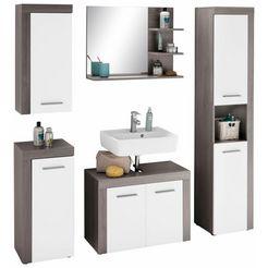 trendteam badkamerserie miami met frame-look (set, 5 stuks) wit