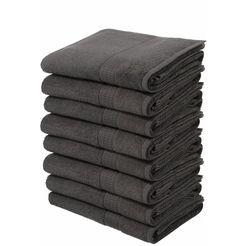 my home handdoeken juna in een voordeelpakket (8 stuks) grijs
