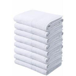 handdoek, my home, »juna«, 8-delige set wit