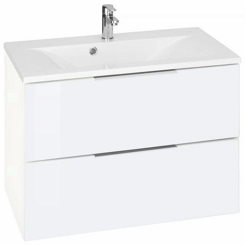 KESPER Wastafelmeubel Tessin met 2 laden witte badkamer onderkast 282