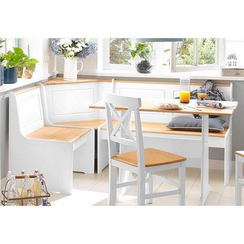 Home affaire eethoek Sascha met tafel en hoekbank met opbergruimte
