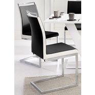 vrijdragende stoel (set van 2) zwart