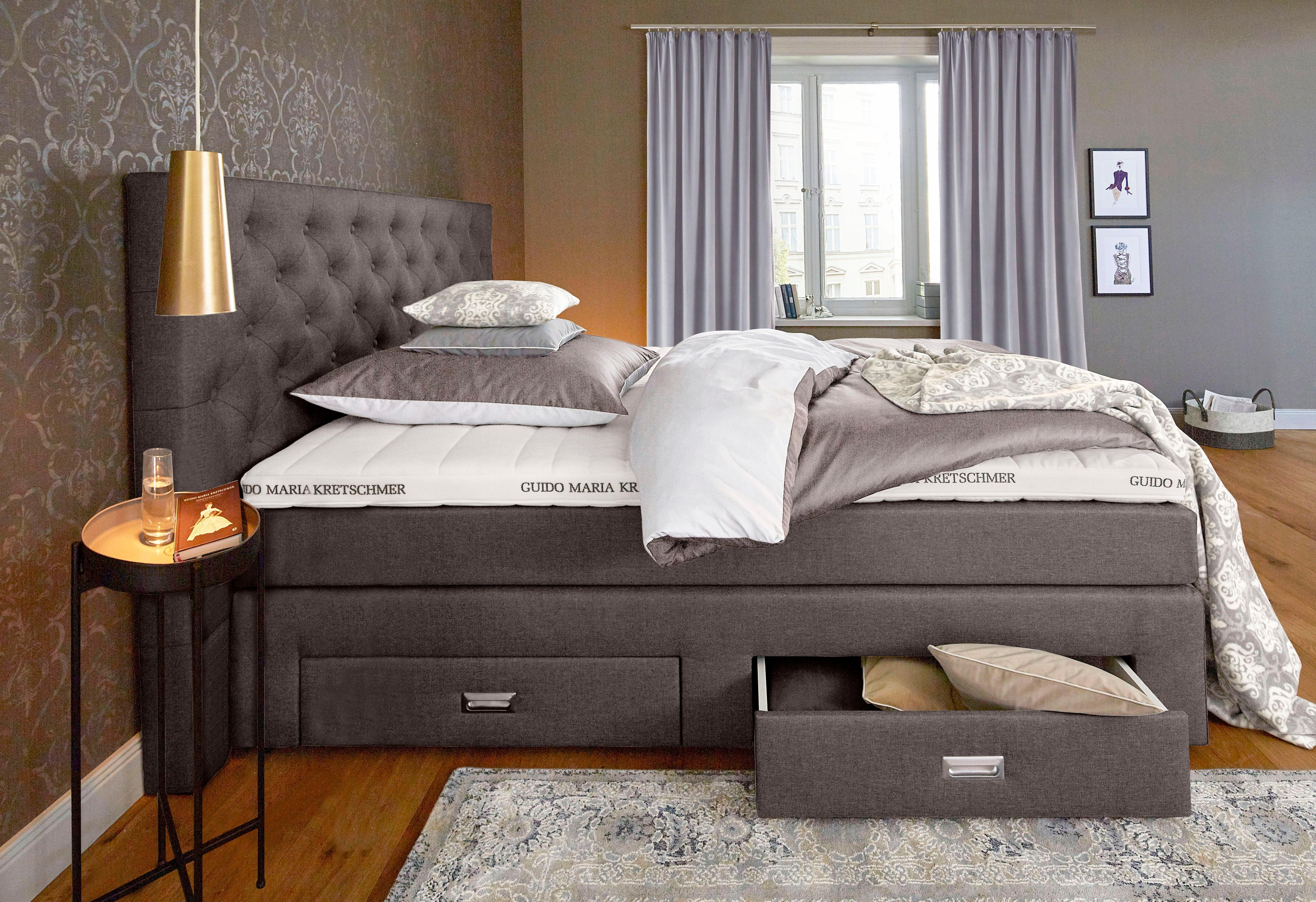 gmk home living boxspring aivi met laden in de online winkel otto. Black Bedroom Furniture Sets. Home Design Ideas