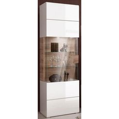 vitrinekast, hoogte 204 cm wit