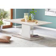 pro line salontafel met plank wit