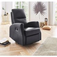 atlantic home collection relaxfauteuil, met binnenvering zwart