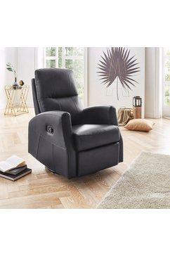atlantic home collection relaxfauteuil met wip- en relaxfunctie zwart