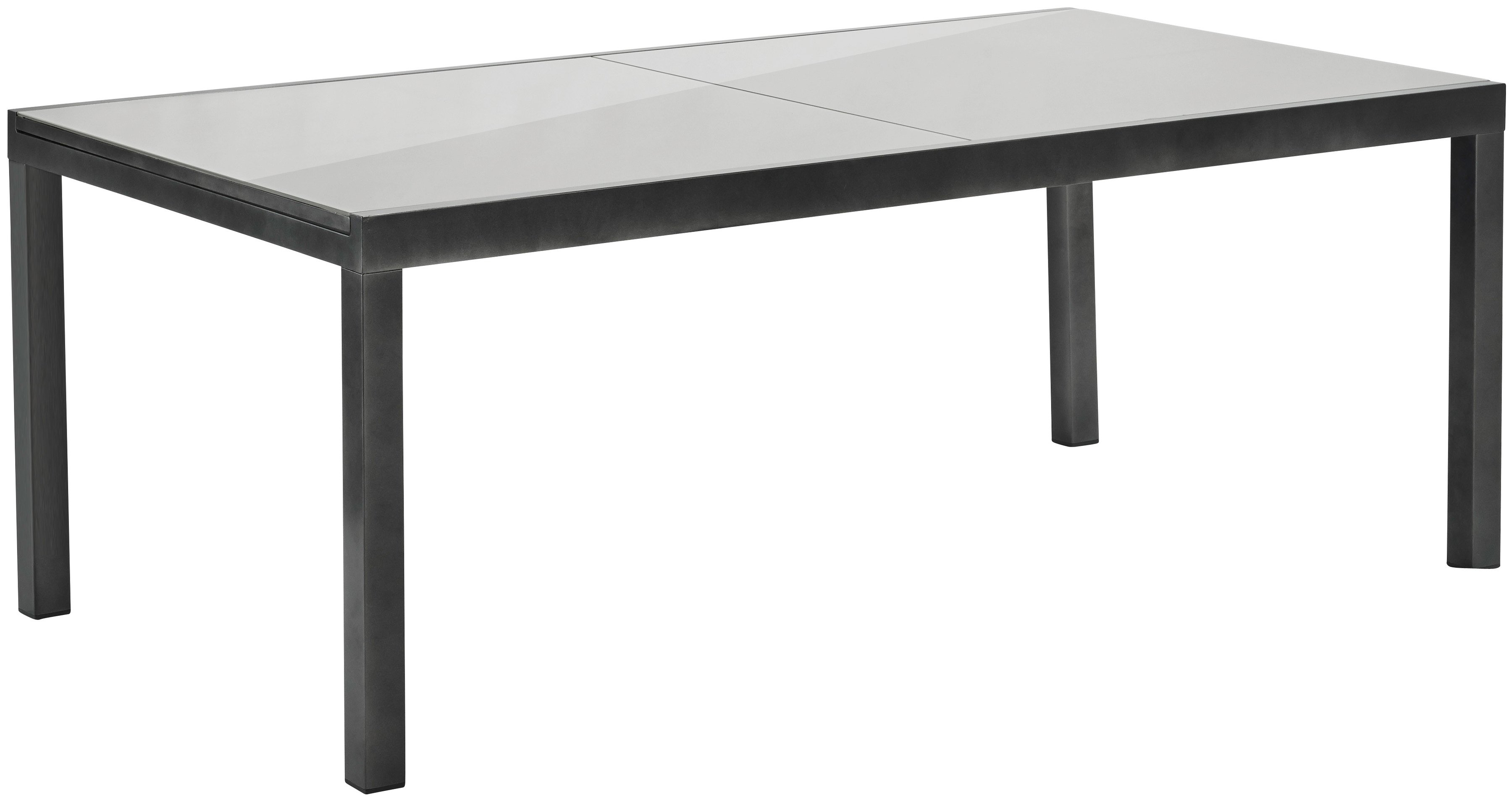 merxx uittrektafel 110x300 cm aluminium glas grijs snel online gekocht otto. Black Bedroom Furniture Sets. Home Design Ideas