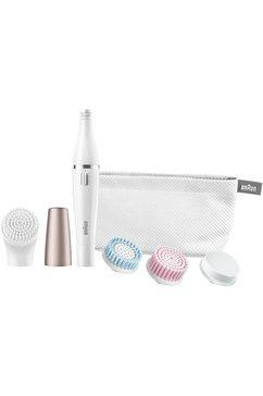 gezichtsreinigingsborstel en gezichtsepilator, Face 851, inclusief opzetstuk-mix van 4