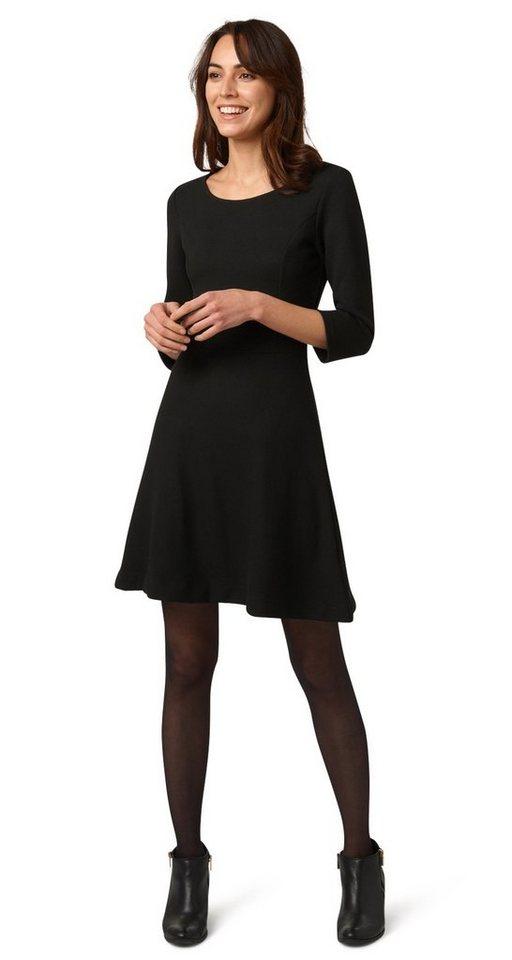 Tom Tailor jurk A-Linien-Kleid mit Struktur zwart