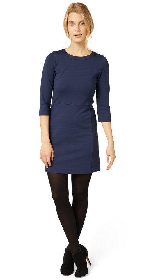 Tom Tailor jurk »feminines jerseykleid mit 3/4 Arm« blauw