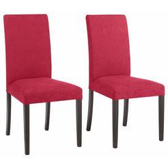 home affaire stoel roko in een set van 2, 4 of 6 (set, 2 stuks) rood