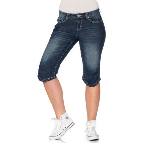 sheego Denim sheego Denim capri-jeans met used-effecten