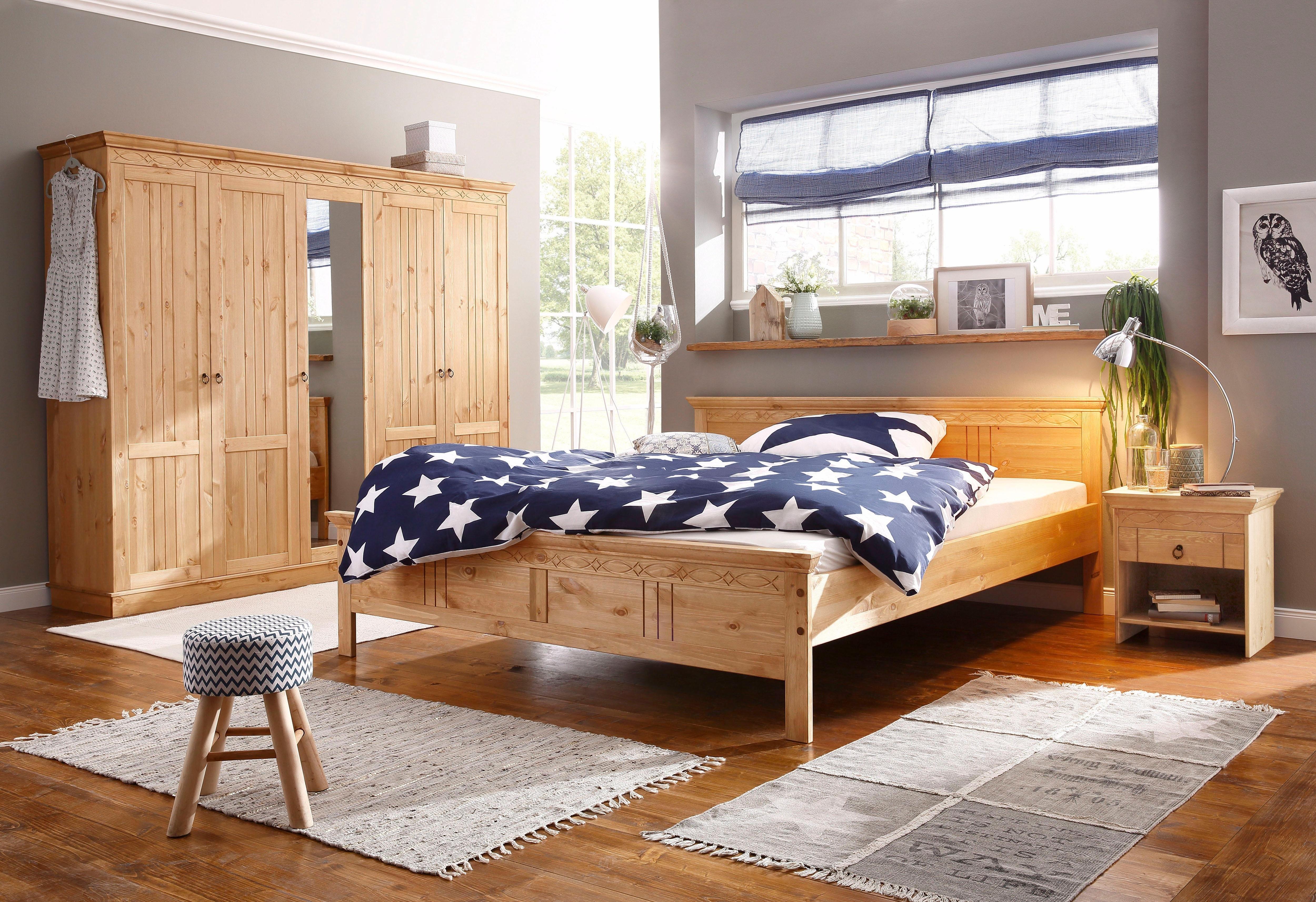Home affaire slaapkamerserie bestaand uit bed van 180 cm, 5-deurs kast en 2 nachtkastjes (set, 4 stuks) online kopen op otto.nl