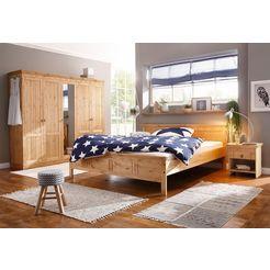 home affaire slaapkamerserie »indra« (4-dlg.), met decoratief freeswerk beige