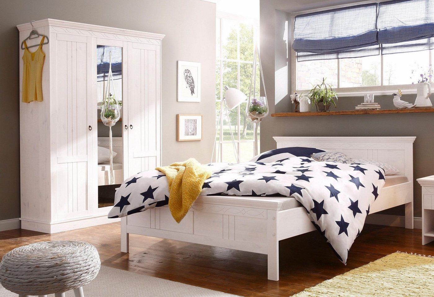 HOME AFFAIRE slaapkamerserie (2-dlg.) Indra met decoratief freeswerk