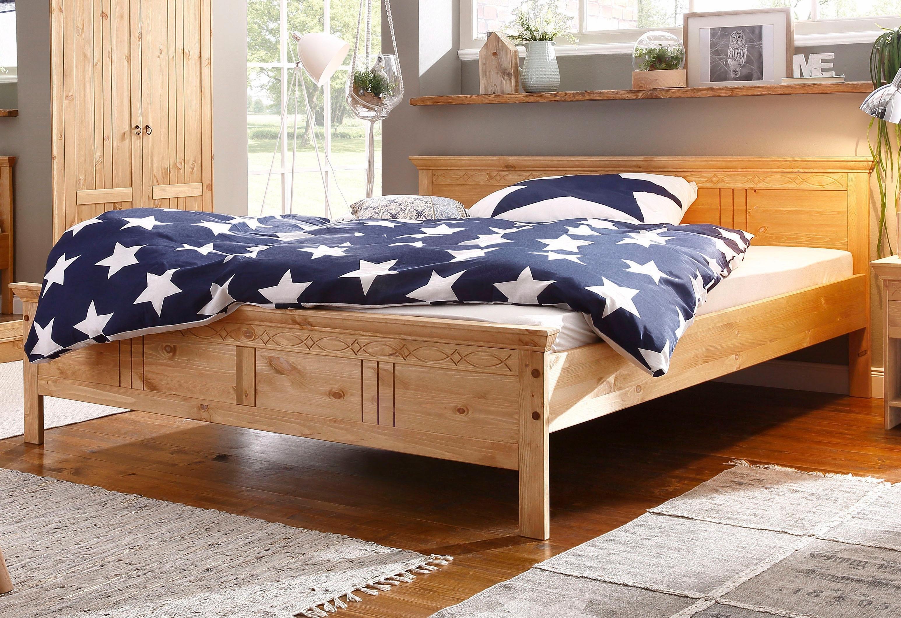 home affaire ledikant indra met decoratief freeswerk in 2 breedten 140x200 en 180x200 cm. Black Bedroom Furniture Sets. Home Design Ideas