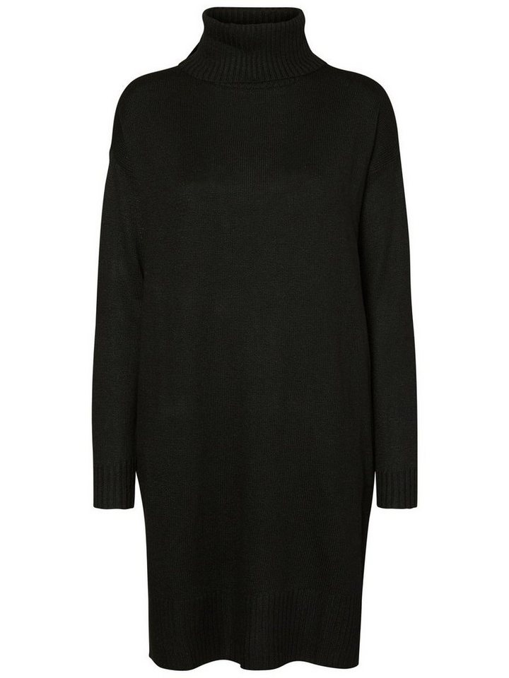 Vero Moda gebreide jurk met lange mouwen zwart