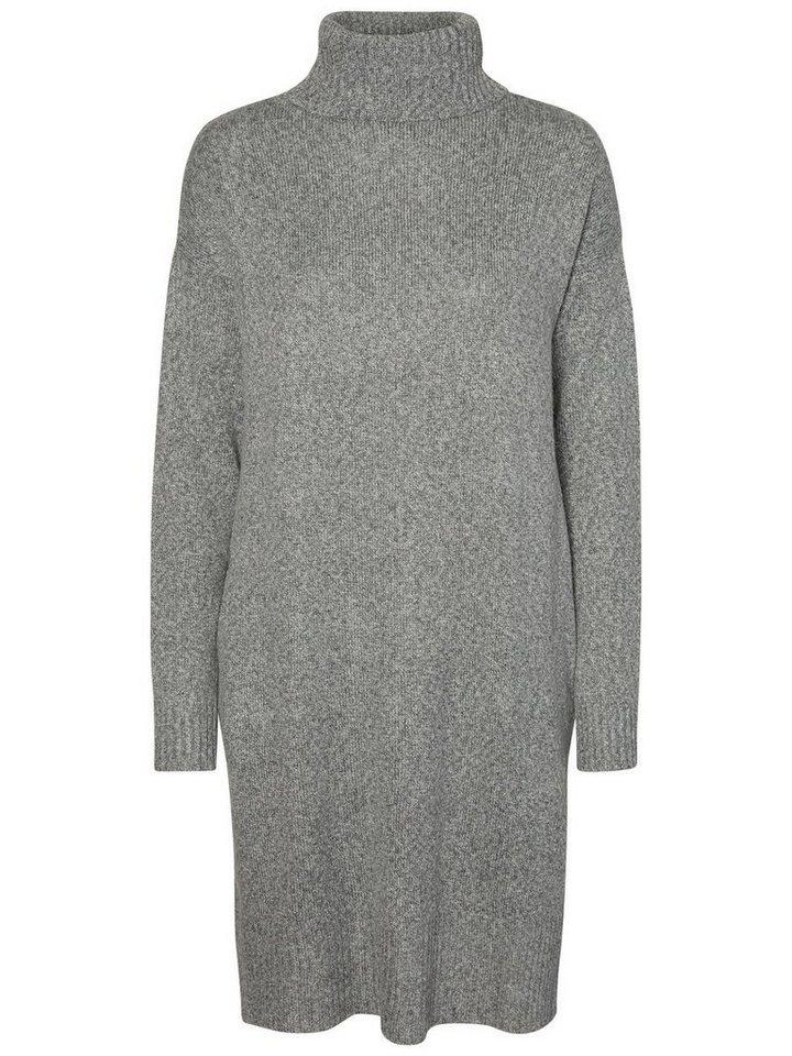 Vero Moda gebreide jurk met lange mouwen grijs
