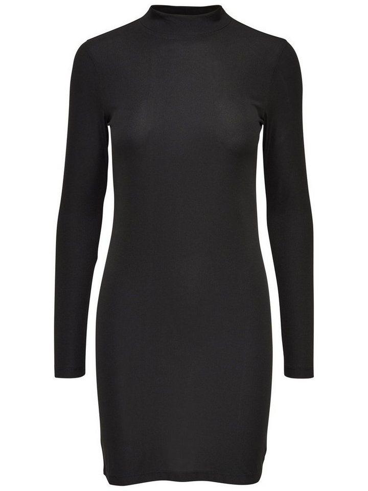 ONLY Hoge kraag jurk met lange mouwen zwart