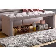 atlantic home collection slaapkamerbankje beige