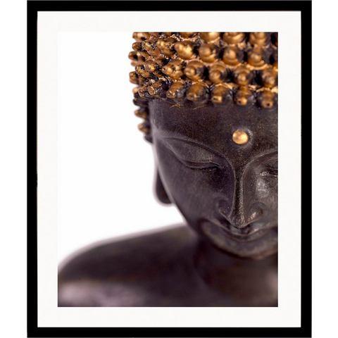 G&C ingelijste artprint Buddha front, 43x53 cm
