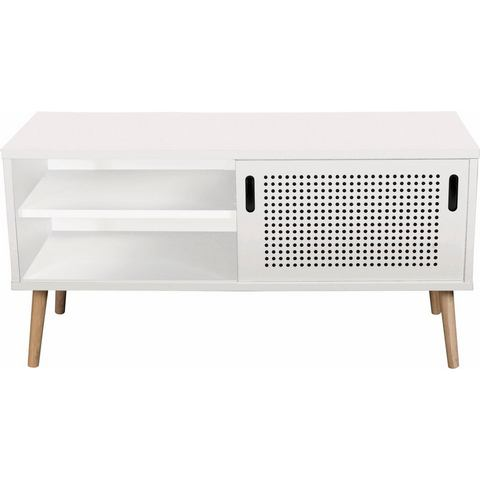 andas tv-meubel Scala, breedte 106 cm, met schuifdeur en gelakt bovenblad