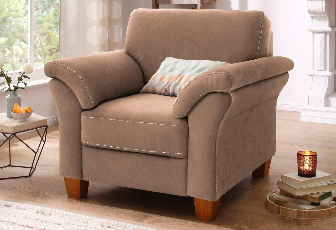 HOME AFFAIRE fauteuil Borkum met binnenvering