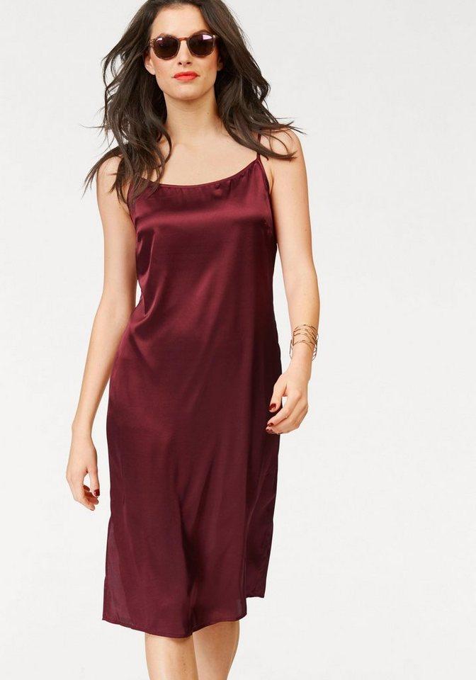 Aniston jurk met spaghettibandjes rood