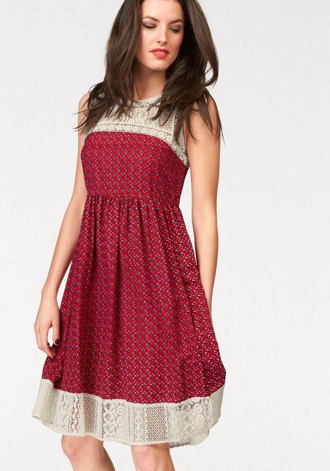 Aniston gedessineerde jurk rood