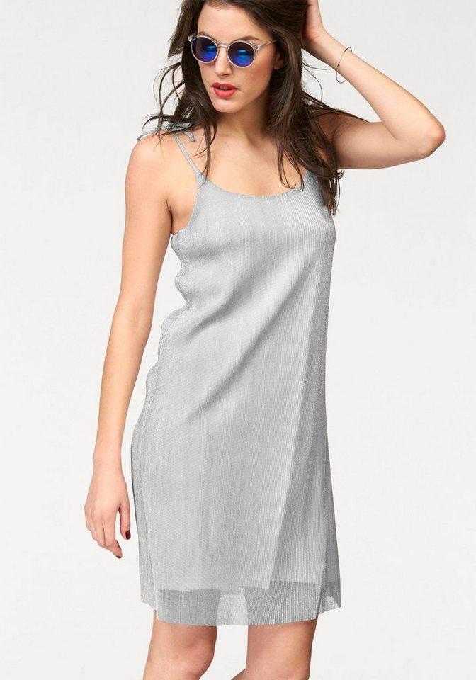 Aniston jurk met spaghettibandjes zilver
