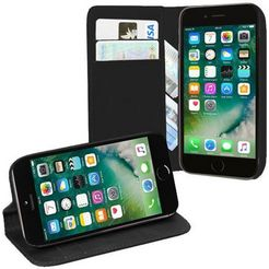 pedea gsm-hoesje »echtleder book cover voor apple iphone 7« zwart
