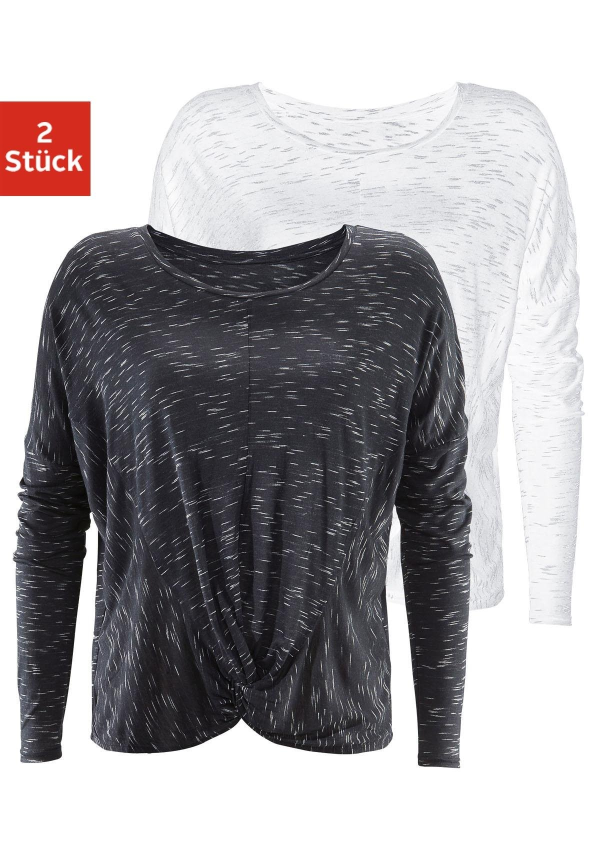 LASCANA shirt met lange mouwen (set van 2) veilig op otto.nl kopen