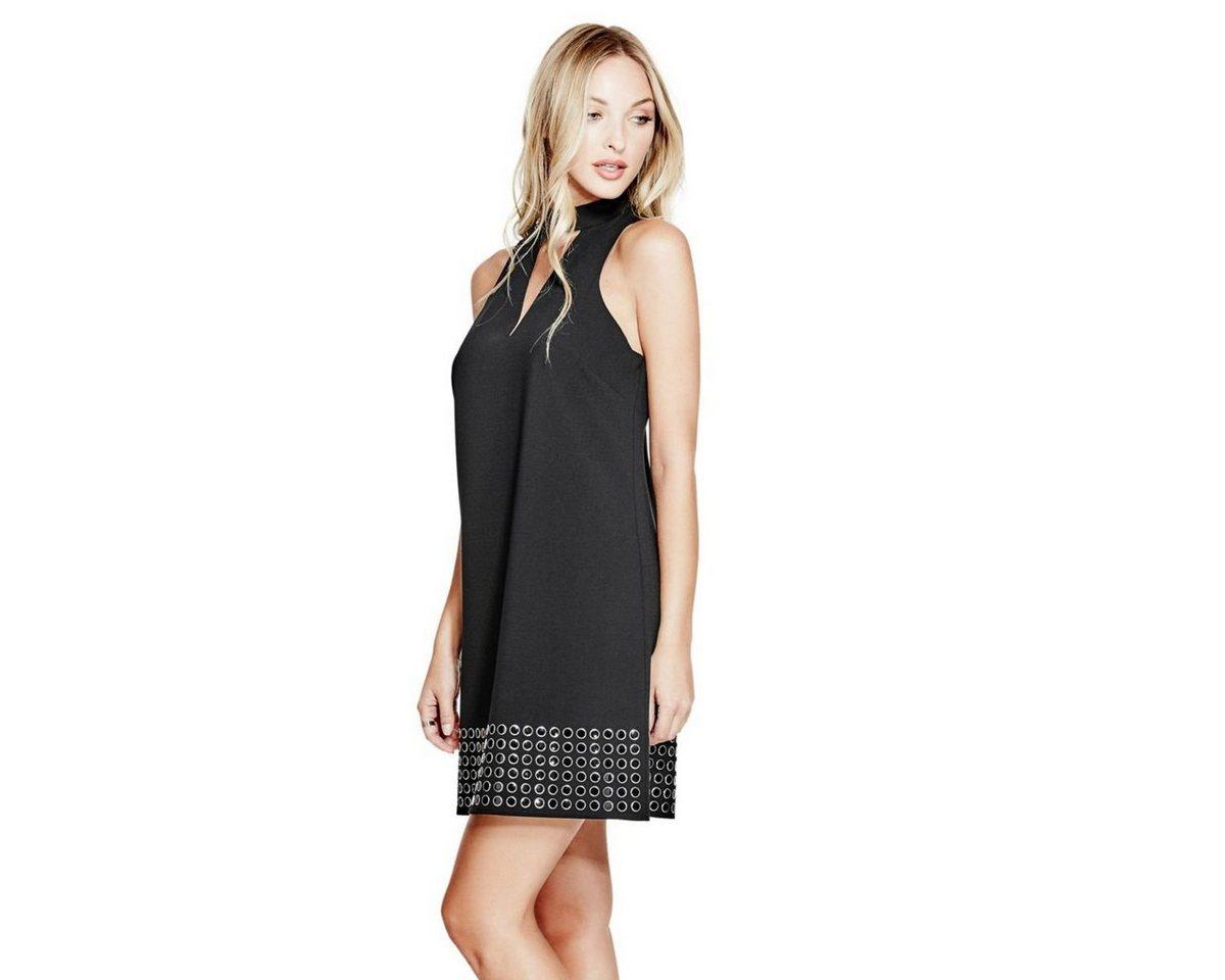 Guess jurk met kleine studs bij de zoom zwart