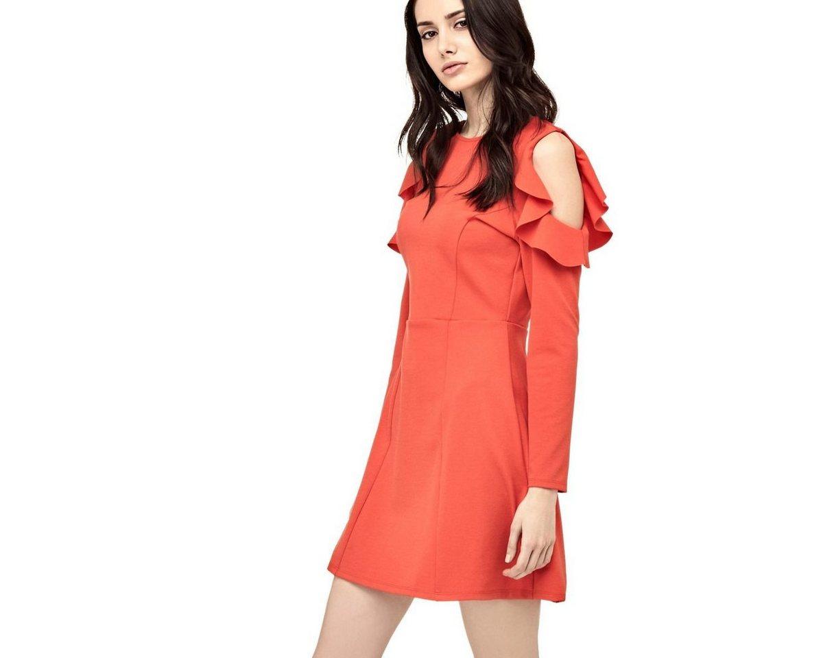 NU 21% KORTING: Guess jurk met mouwen met ruches rood