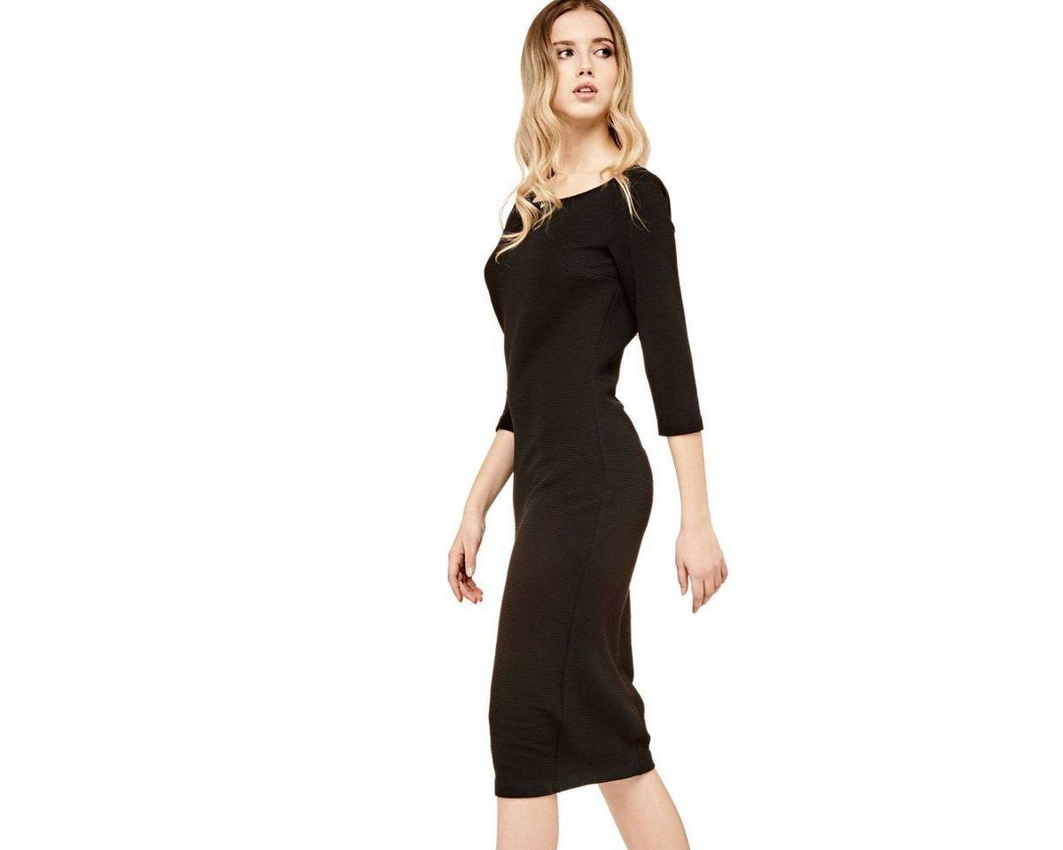 Guess jurk met driekwartmouwen zwart
