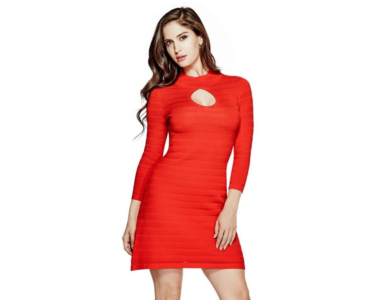 Guess jurk hals met cut-out rood