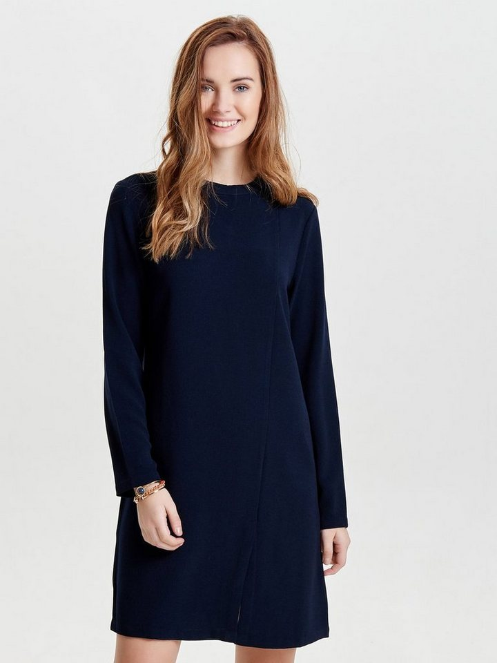 ONLY High-neck jurk met lange mouwen blauw