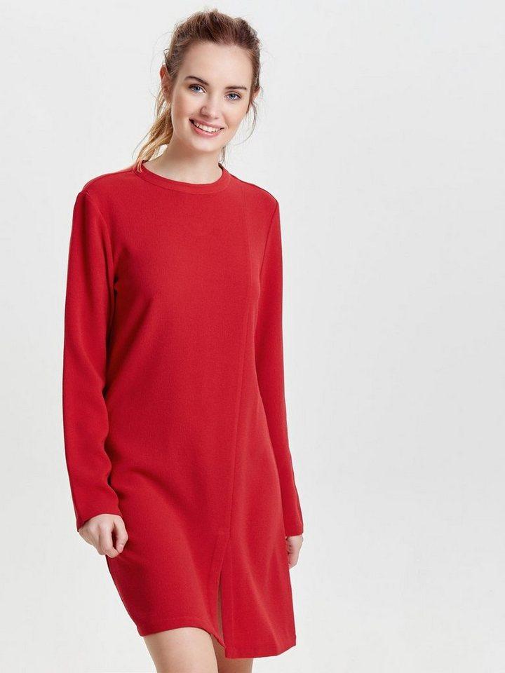 ONLY High-neck jurk met lange mouwen rood