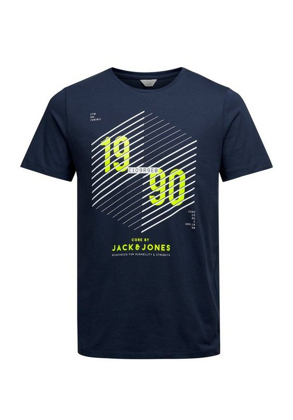 Jack & Jones Grafisch katoenen T-shirt met 1990