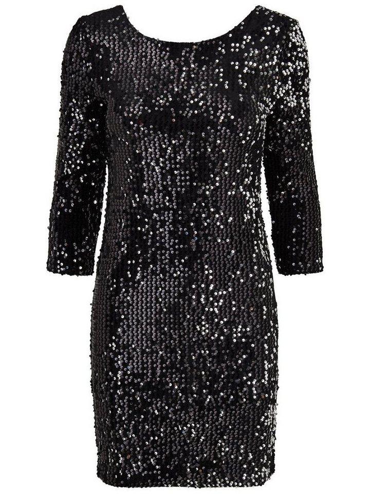 ONLY Lange mouw jurk zwart