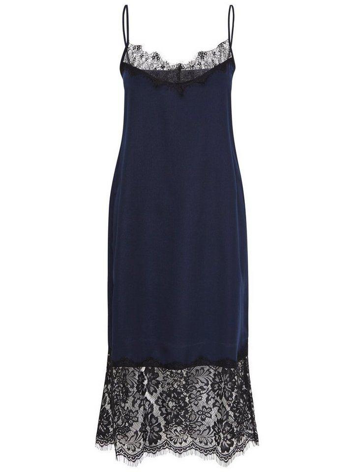 ONLY Mouwloze jurk met kanten detail blauw