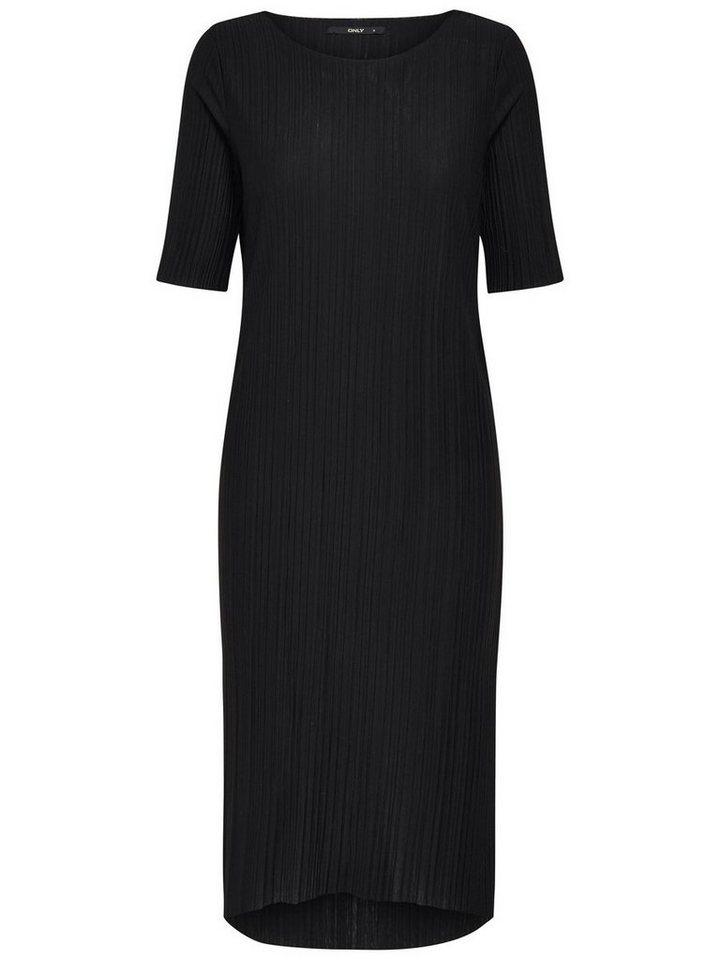 ONLY Crêpe jurk met korte mouwen zwart