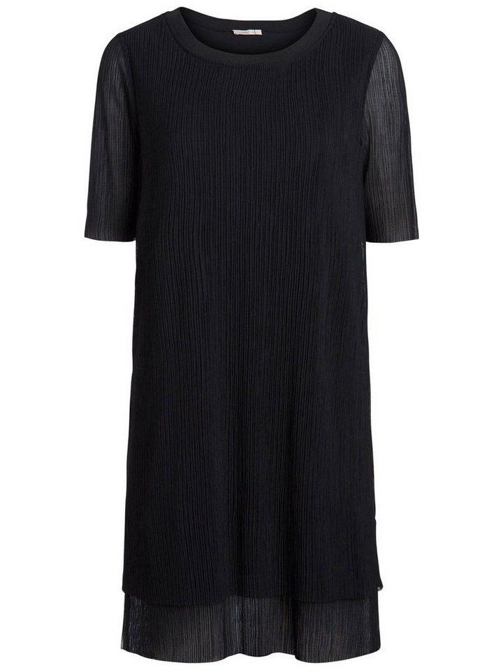 Pieces Mini plooi jurk zwart