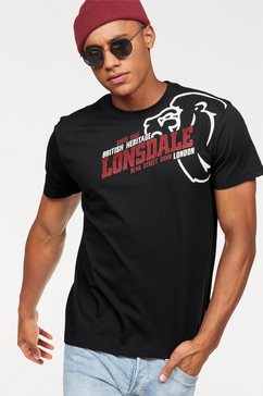 lonsdale t-shirt »walkley« zwart