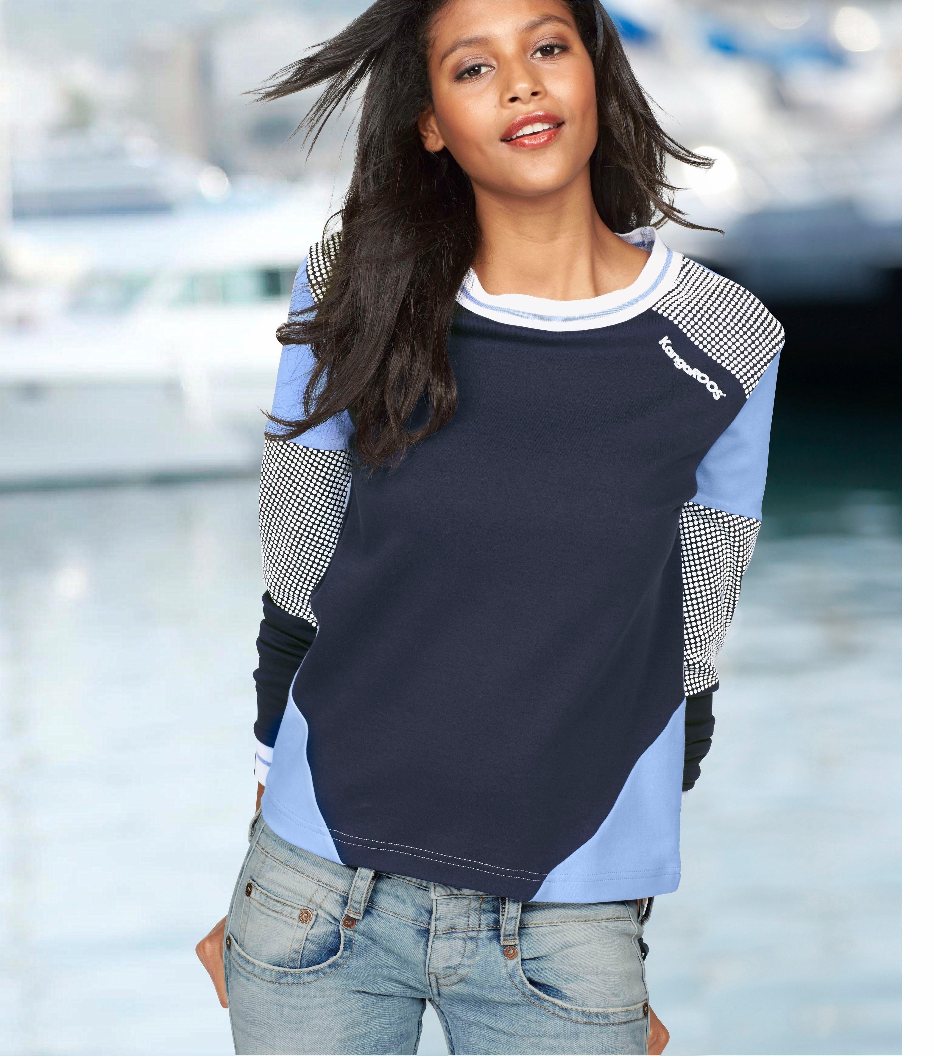 KangaROOS Sweatshirt in colourblocking-design met stippen - verschillende betaalmethodes