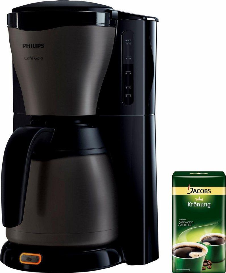 PHILIPS koffiezetapparaat HD7547/80 Gaia Therm Titanium met 250 g gratis koffie