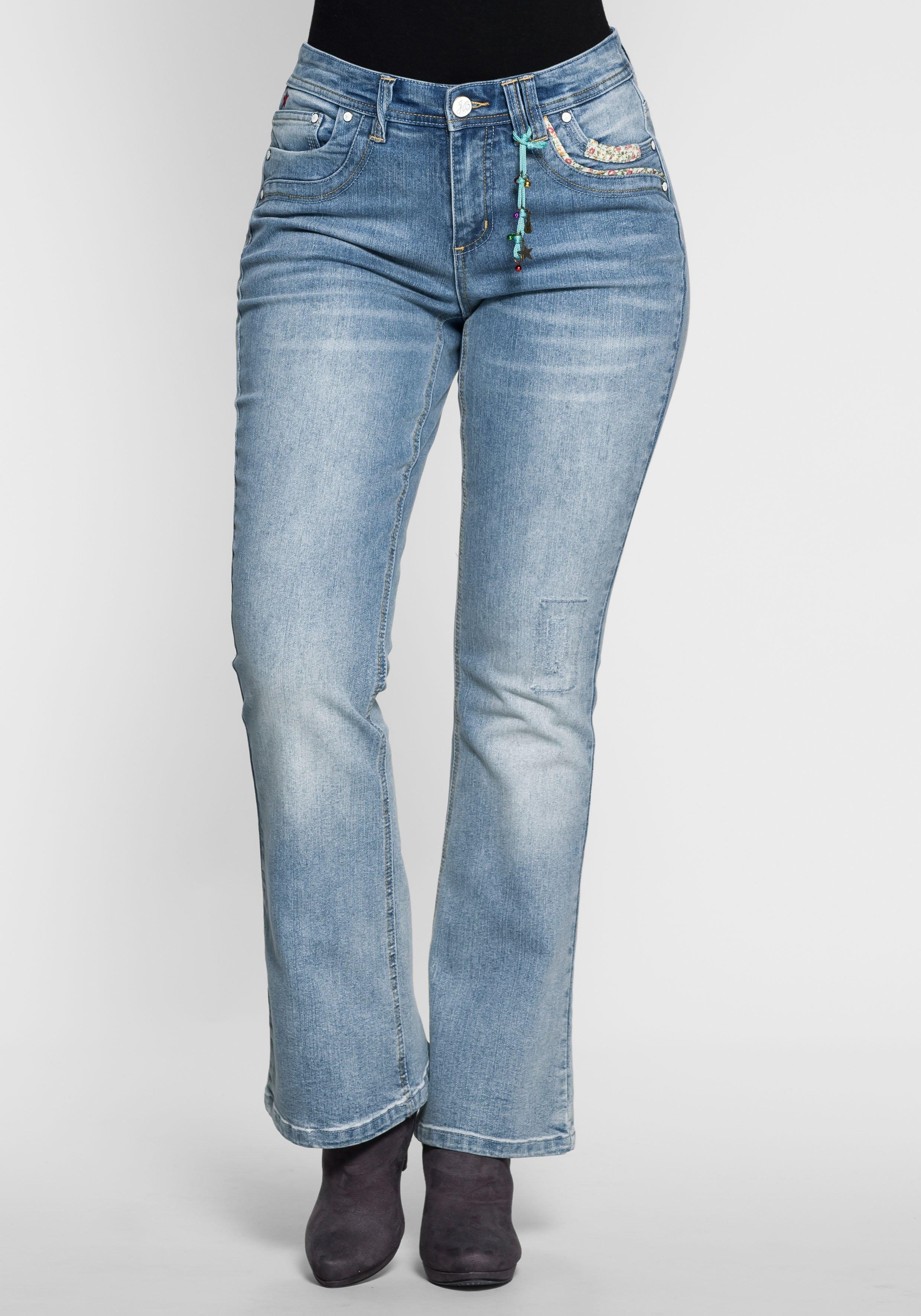 Sheego By Joe Browns Joe Browns Joe Browns stretchjeans in bootcutmodel nu online kopen bij OTTO